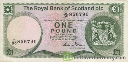 The Royal Bank of Scotland plc 1 Pound banknote (1982-1986 series)