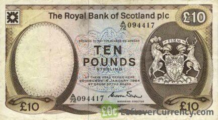 The Royal Bank of Scotland plc 10 Pounds banknote (1982-1986 series)