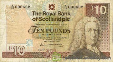 The Royal Bank of Scotland plc 10 Pounds banknote