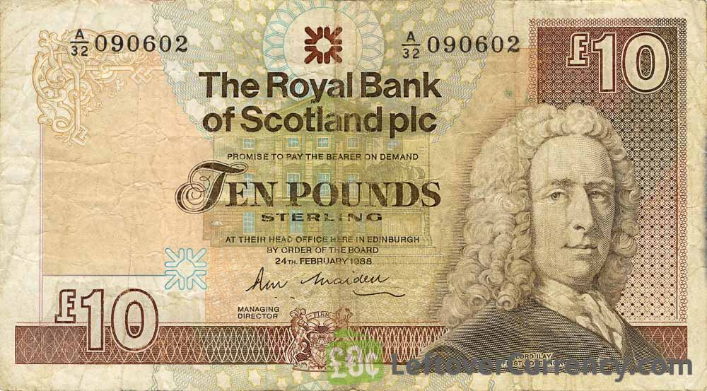 The Royal Bank of Scotland plc 10 Pounds banknote