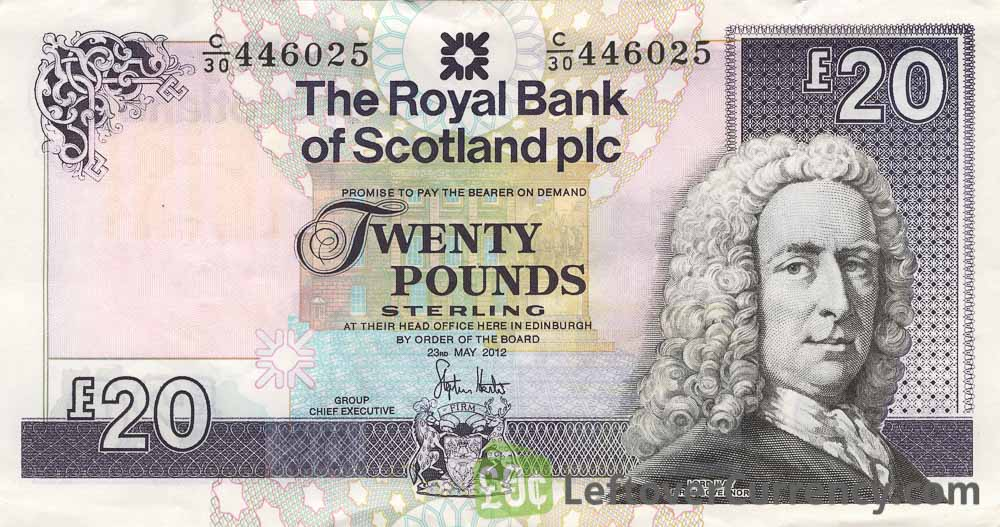 The Royal Bank of Scotland plc 20 Pounds banknote