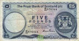 The Royal Bank of Scotland plc 5 Pounds banknote (1982-1986 series)