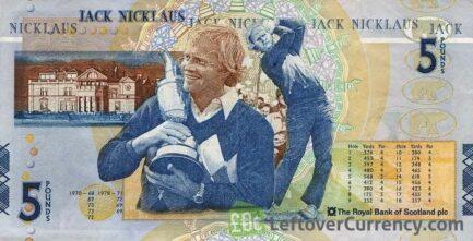 The Royal Bank of Scotland plc 5 Pounds banknote