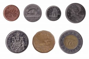 Canadian dollar coins accepted for exchange