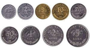 Croatian kuna coins accepted for exchange