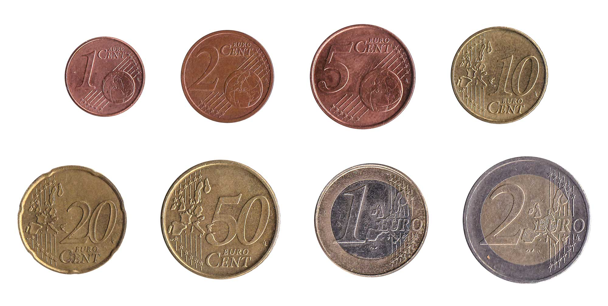 Euro coins accepted for exchange