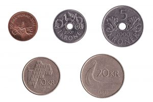 Norwegian kroner coins accepted for exchange