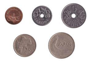Norwegian kroner coins accepted for exchange