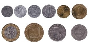 obsolete Austrian schilling coins accepted for exchange