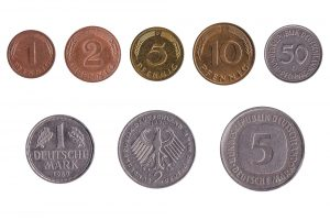 Obsolete deutsche mark coins accepted for exchange