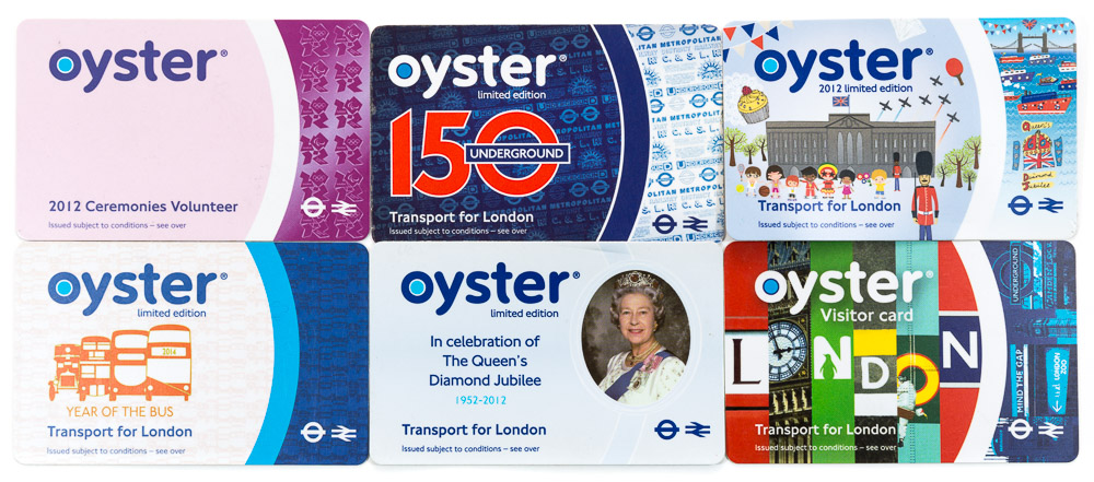 TfL Oyster card collection
