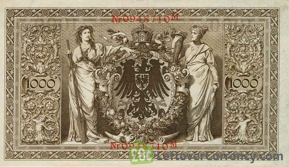 VERY FINE//3// 1000 MARK 1910 GERMANY