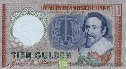 10 Dutch Guilders banknote (Hugo de Groot)