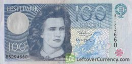 100 Estonian Krooni banknote 1991-1994 version