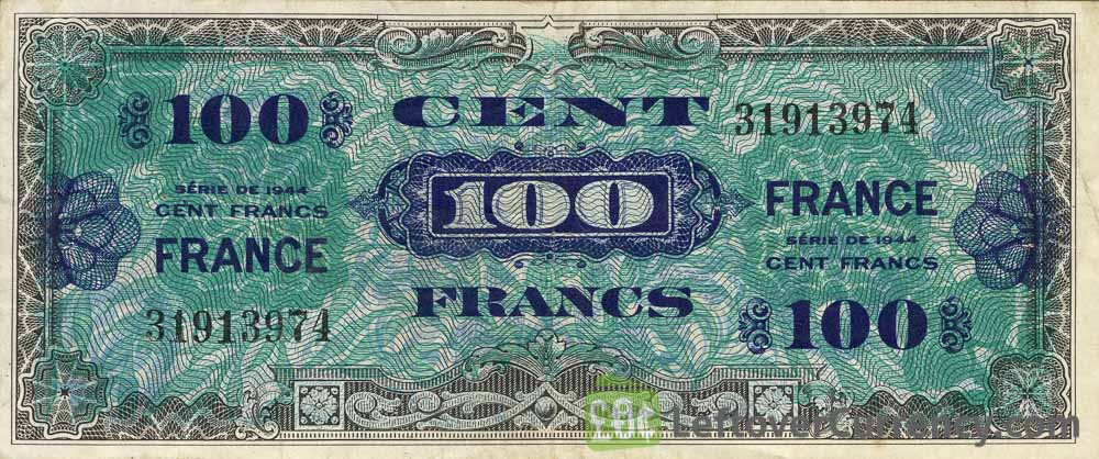 100 French Francs banknote (Allied Military Currency 1944)