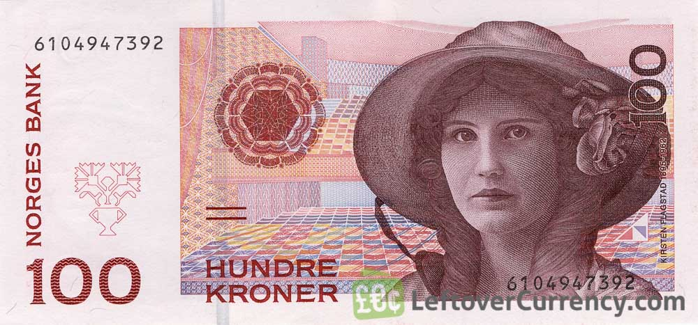 100 Norwegian kroner without hologram strip