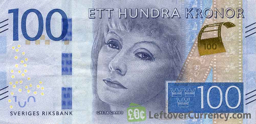 100 Swedish Kronor banknote (Greta Garbo) - Exchange yours ...