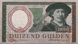 1000 Dutch Guilders banknote (Rembrandt)