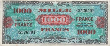 1000 French Francs banknote (Allied Military Currency 1944)