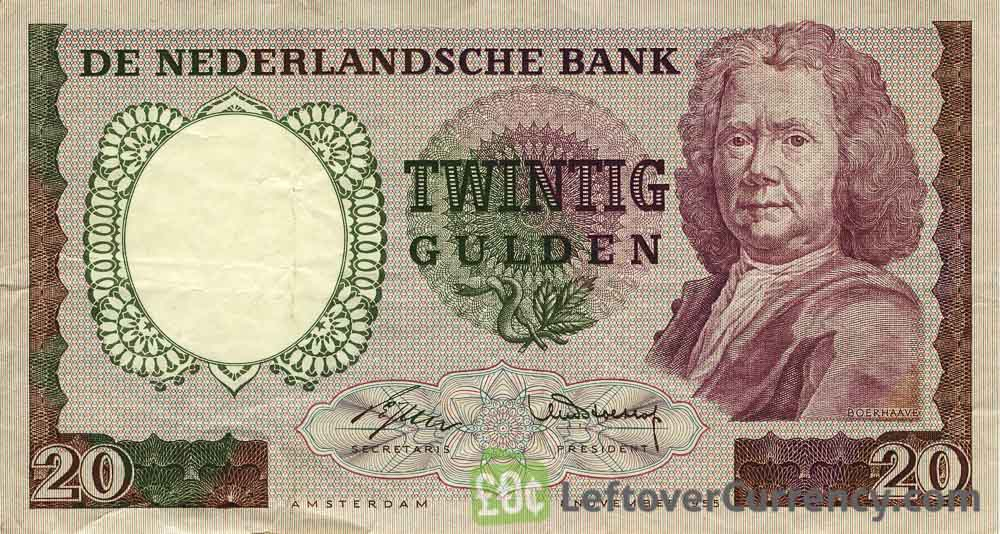 20 Dutch Guilders banknote (Herman Boerhaave)