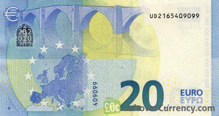 20 Euros banknote (Second series)