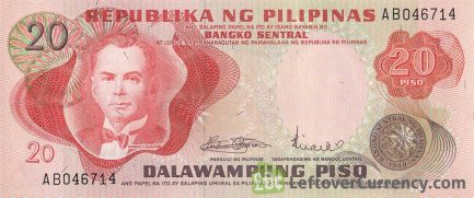 20 Philippine Peso banknote (1978 issue)