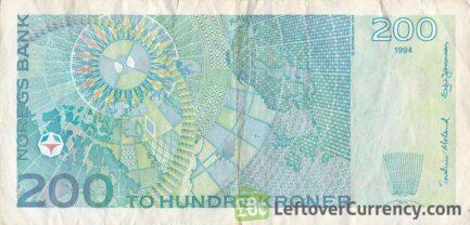 200 Norwegian kroner without hologram strip