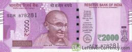 2000 Indian Rupees banknote (Gandhi Mangalyaan)