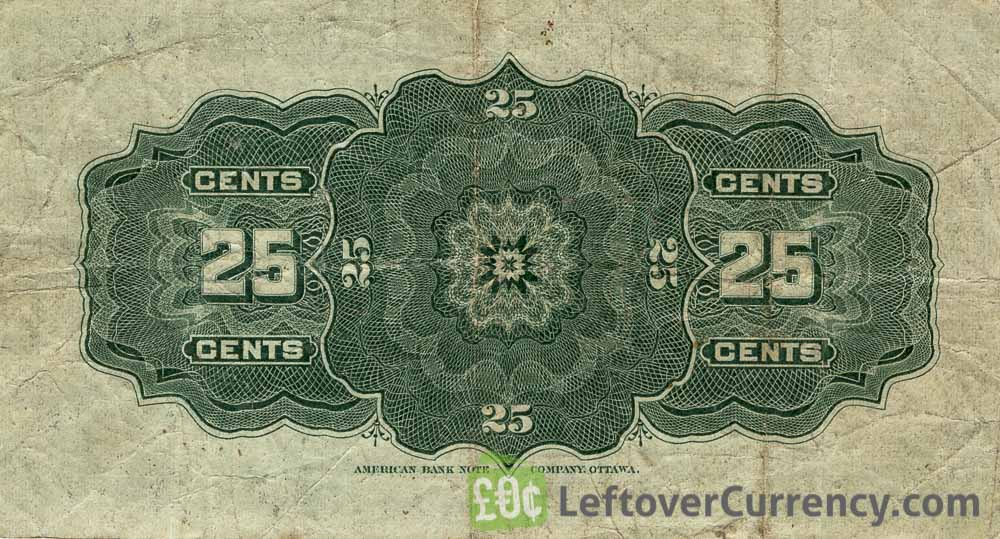 25 cents Dominium of Canada banknote 1900