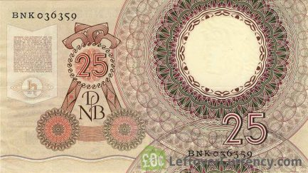 25 Dutch Guilders banknote (Christiaan Huygens)