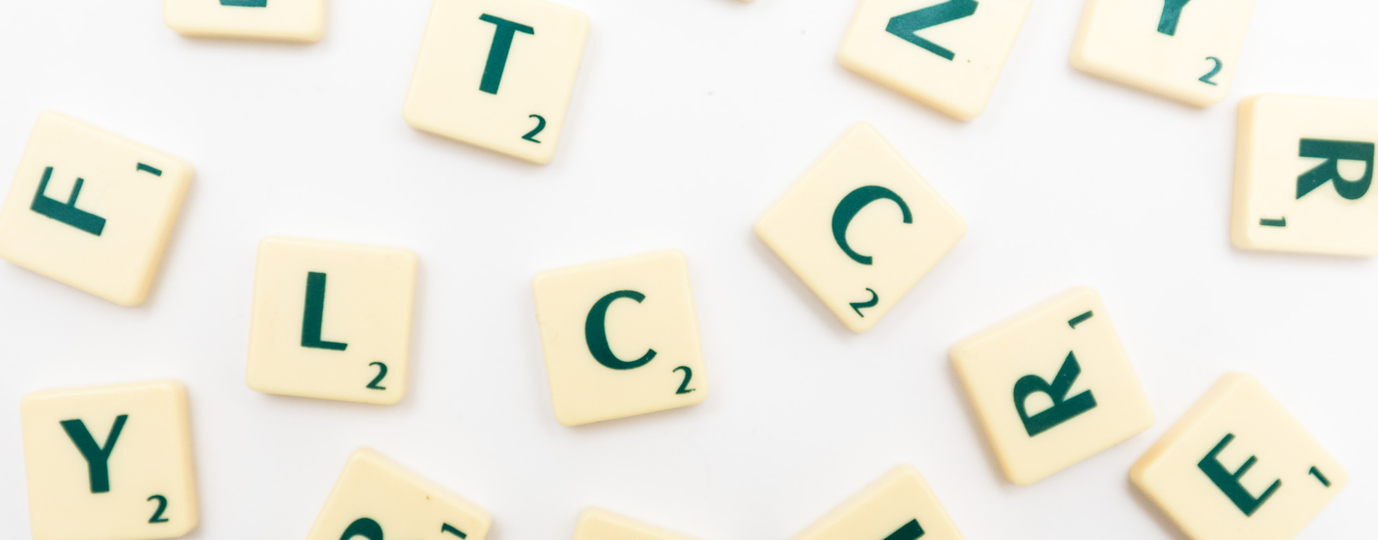 AZ glossary scrabble letters