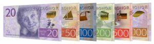 current Swedish Krona banknotes accepted for exchange