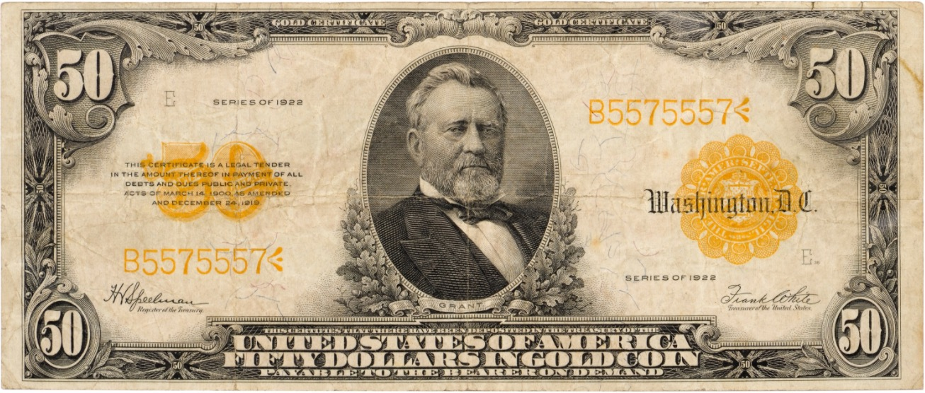 Fifty dollars Gold Certificate