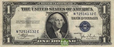 One Dollar Silver Certificate blue seal