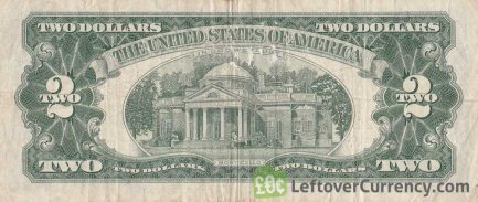 Two Dollars United States note red seal