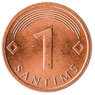 1 Santims coin Latvia