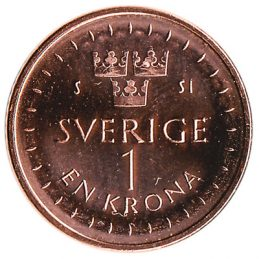 1 Swedish Krona coin (minted from 2016)