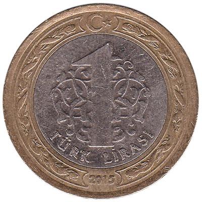 1 Turkish Lira coin