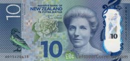 10 New Zealand Dollars banknote series 2015 obverse