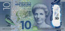 10 New Zealand Dollars banknote series 2015 obverse
