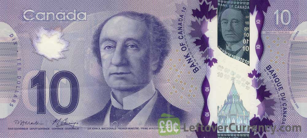 10 Canadian Dollars banknote (Frontier Series)