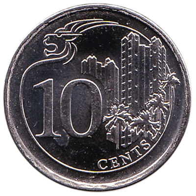 10 Cents coin Singapore (Third series)