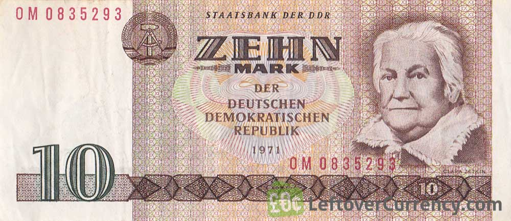 10 DDR Mark banknote (Clara Zetkin)
