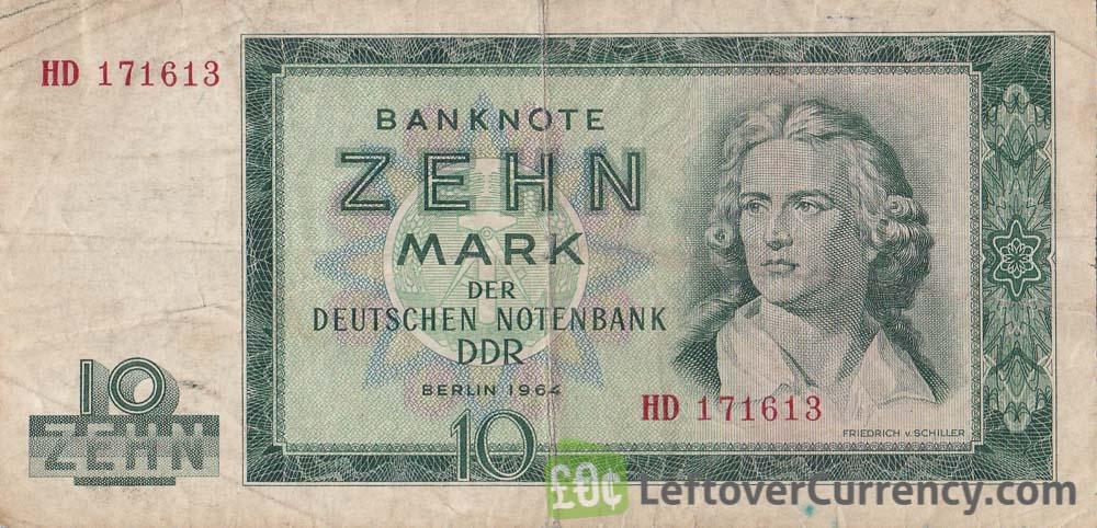 10 DDR Mark banknote (Friedrich von Schiller)