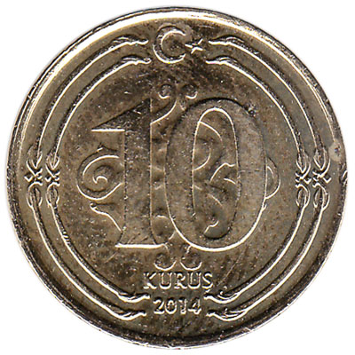 10 Kurus coin Turkey