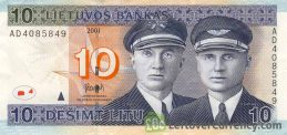 10 Litu banknote Lithuania