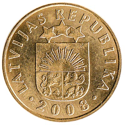 10 Santimu coin Latvia