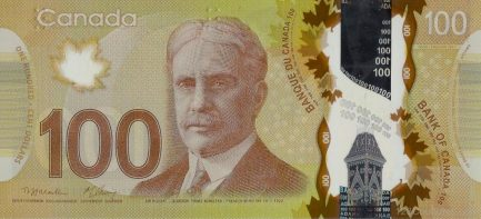 100 Canadian Dollars banknote (Frontier Series)
