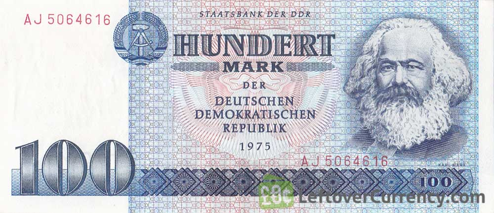 100 DDR Mark banknote (Karl Marx)
