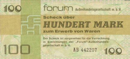 100 Mark ForumScheck DDR (1979)